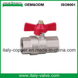 Italiano Tipo de latón forjado válvula de bola de la mariposa de Gas (AV1048)