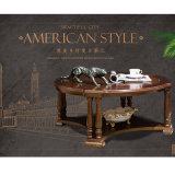 熱い販売の簡単な純木の円形のコーヒーテーブル(AS838)