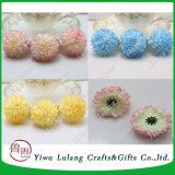 Daisy falsos de seda artificial Flores Decoración de boda masiva cabezas esféricas