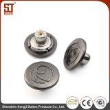 Tecla redonda do vestuário da pressão do metal de Monocolor para calças de brim