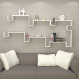 Ensemble d'étagère de mur d'Angi de meubles GB2803 d'étagère de livre de crémaillère d'étalage 2