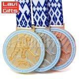 Las ventas de metal de aleación de zinc caliente medalla con cordón de impresión