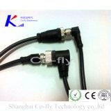 M12 2 к 17pin делают защищаемый женским кабельный соединитель водостотьким отлитый в форму локтем