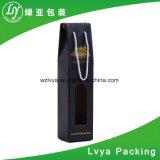 El aguilón imprimió el rectángulo del portador de la maneta de la cartulina acanalada para el embalaje del vino