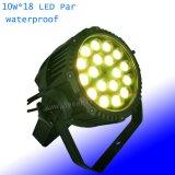 IP65 18*15W RGBW Водонепроницаемый светодиодный PAR лампа для использования вне помещений этап