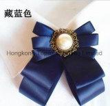 女性の衣裳の絹製ネクタイのBowknotのブローチ(CB-10)のための2018の方法ラインストーンの美しいブローチ