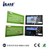 2.4 '' LCD videobroschüre für das Geschäft, das mit AVI Format bekanntmacht