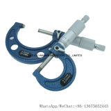 Professionista fuori del micrometro 25-50mm 0.01mm con il blocco per grafici blu (WW-SL0325B)
