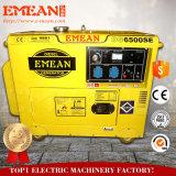 最も売れ行きの良い反動か電気開始の単一フェーズ5kw/5kVAの無声ディーゼル発電機