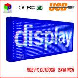 P13 im Freien LED farbenreiches Text-Verschieben der Bildschirmanzeige der Bildschirmanzeige-15 der Unterstützungs'' x40 '' u. programmierbar