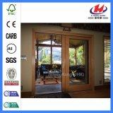Porte en bois de pièce intérieure de qualité avec la glace (JHK-G01)