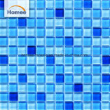Mattonelle di vetro blu poco costose esterne della piscina del mosaico