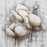 Het abstracte Moderne Olieverfschilderij van de Bloem
