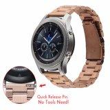 Para engrenagem Samsung S3 Classic/Banda Smartwatch Fronteira 22mm de precinta de substituição de relógio de Aço Inoxidável