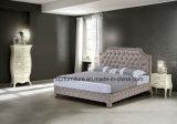 古典的な革ベッドの現代的なヒョウの寝室の家具