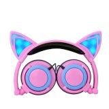 Stilvolles Stirnband verdrahteter bunter Katze-Ohr-Karikatur-Kopfhörer