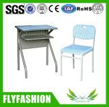 Mobiliário de sala de aula modernas única escola Secretária com cadeira (SF-55S)