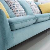 Mobília moderna Fb1105 da sala de visitas azul do hotel do sofá da tela