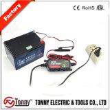 휴대용 지능적인 차 또는 기관자전차 배터리 충전기 및 소송 불법 원조자 12V 1.2A