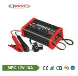 Chargeur de batterie d'acide de plomb à C.A. de 8 étapes 12V 10A avec la batterie réparant la fonction