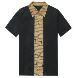 Type chemises de la relation étroite des seuls de boutique de vêtement hommes en gros de Rockabilly de chemise de circuit