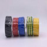 Aislante adhesivo de la cinta de PVC del negro