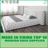 Size Upholstered Bed最新のデザイン房状の高貴な王の
