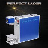 Marque d'oreille et machine animales d'inscription de laser de fibre de bouton