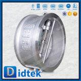 Tipo confiable válvula de la oblea del acero inoxidable de la calidad de Didtek de verificación