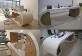 最上質の現代デザイン人工的な大理石4の人の事務机