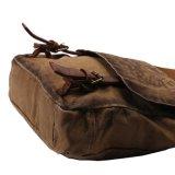 Sacchetto della cartella della spalla del messaggero del sacchetto del iPad di Crossbody del cuoio genuino della tela di canapa della Cina