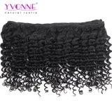 Tessuto profondo dei capelli umani dell'onda di Remy del grande Virgin brasiliano puro di riserva di Yvonne