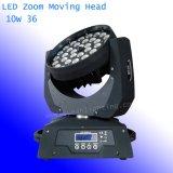DJ 점화 36X10W 급상승 세척 빛 LED 이동하는 맨 위 빛