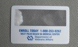 Cartões transparentes do material acrílico ou plástico (HW-802)