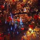 Colore della decorazione dell'indicatore luminoso dell'albero di Natale che cambia l'indicatore luminoso della meteora di RGB LED