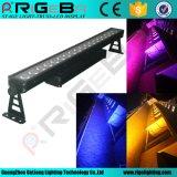 점 통제 18*12W Rgbwauv 6in1 LED 바 빛 IP65는 벽 세탁기 빛을 방수 처리한다