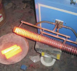 Perno de la barra haciendo calentamiento por inducción de frecuencia supersónica forjado en caliente máquina 25-260KW