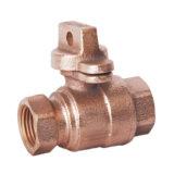 Válvula de cobre amarillo del bloqueo con buena calidad