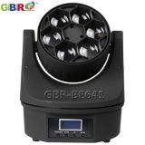 Gbr-Be641 6X15W RGBW 4in1 LEDのB目のビーム移動ヘッドライト