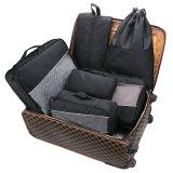 7 팩 여행 부대 조직자 세탁물 단화 세면용품 주머니를 가진 고정되는 압축 패킹 입방체
