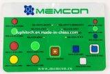 Interruttore di membrana di alluminio inossidabile del piatto di multi di colori alta qualità delle sovrapposizioni