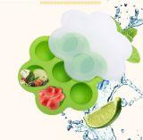 Sin BPA de hielo de la bandeja de silicona de congelación de alimentos para bebés el contenedor de almacenamiento, el huevo Bite Molde