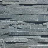 고품질 벽 도와를 위한 자연적인 까만 싼 슬레이트 문화 돌