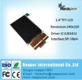 2.4inch Spi Qvga TFT LCD 240X320 TFT LCD Baugruppe für bewegliche Einheit