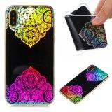 Design IMD Cristal Sintético Mandala caso TPU para iPhone x
