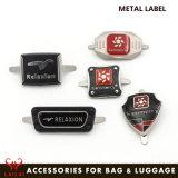 Beutel-Zubehör-kundenspezifischer Firmenzeichen-Metallgepäck-Kennsatz-Metallfirmenzeichen-Namen-Kennsatz