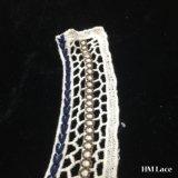 тканье ткани шнурка утески Neckline уравновешивания шнурка маркизета ворота вязания крючком хлопка белизны 27*33cm швейцарское с красной синью и сети кривого вышивки Brown уравновешивая Hm205
