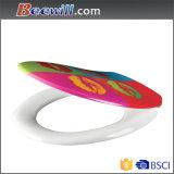 Asiento de tocador impreso colorido con la función cercana lenta