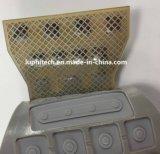 Resistente al agua la rejilla de la plata de tinta de impresión de silicona Matrxi Runbber Interruptor claves