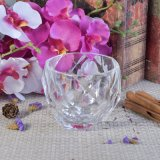 Sostenedores de vela de cristal del diseño del diamante para la vela perfumada